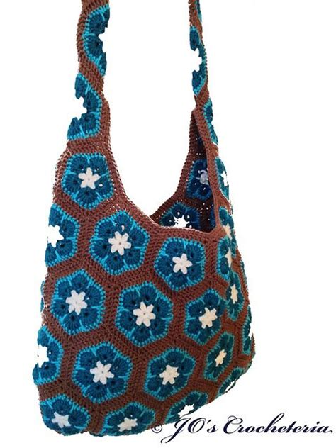 african flower crochet pattern bag african flower shoulder bag crochet pattern pattern by