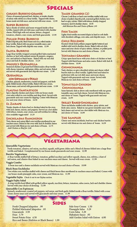 chuck s steak house menu chuck s steak house menu 28 images chuck s steak house steakhouses menu yelp