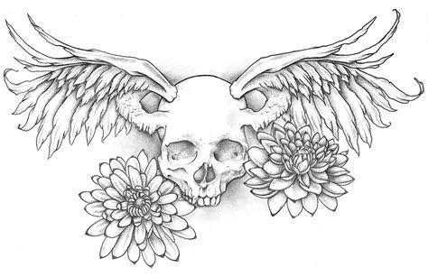 skull with wings tattoo designs winged skull design by jinx2304 on deviantart