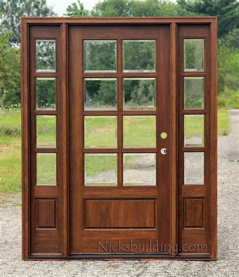 8 lite exterior door and sidelights with clear beveled