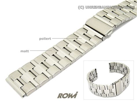 Uhrenarmband Matt Polieren by Uhrenarmband 20 22mm Edelstahl Rowi Wechselansto 223