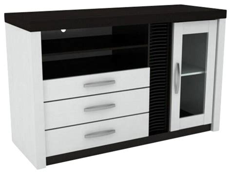 tv stand with drawers and shelves white and espresso finish wood media center tv stand with drawers and shelves contemporary