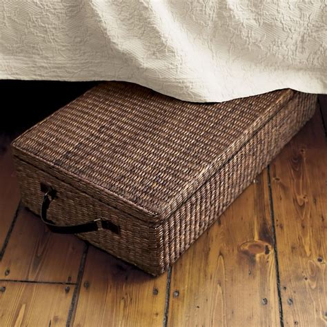 wooden under bed storage drawers with lid under bed storage box with lid dark brown contemporary