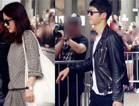 ask k pop song song couple depart to hong kong together