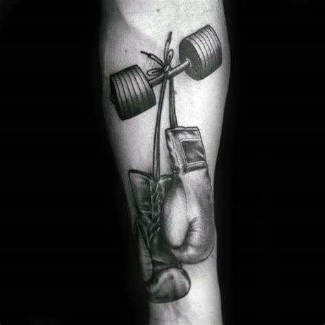 new tattoo exercise sweat boxing gloves would dumbbell mens in a form fitness