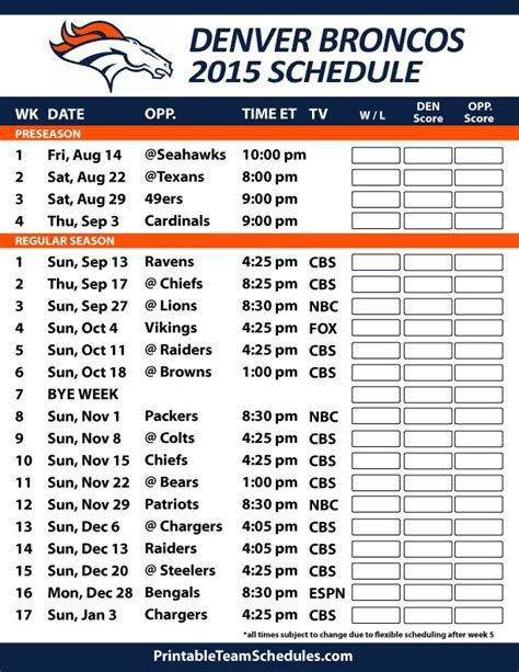 nfl giants schedule 2015 printable denver broncos 2015 schedule printable version here http
