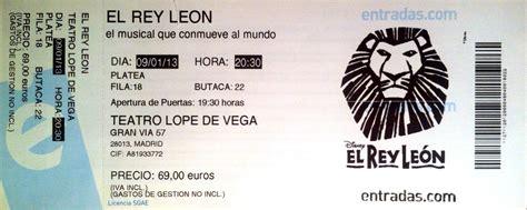 vendo entradas para el rey leon entradas rey leon madrid reventa leche de formula para bebes