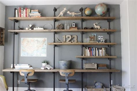 how to build industrial shelves beneath my