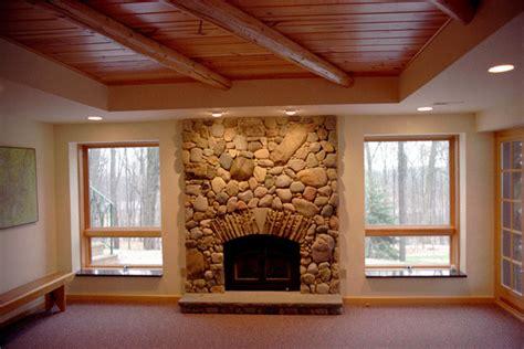 log cabin residence additions rustic basement log cabin