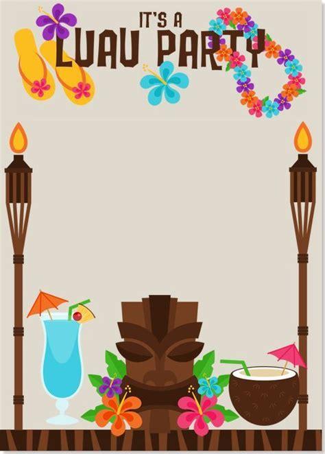 Image Result For Luau Invitations Templates Free Birthday Party Luau Party Luau Party Free Hawaiian Luau Flyer Template