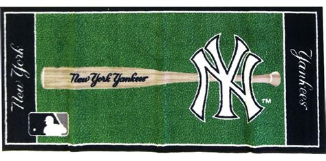 New York Yankees Area Rug Mlb New York Yankees Baseball Accent Runner Rug Contemporary Rugs By Obedding