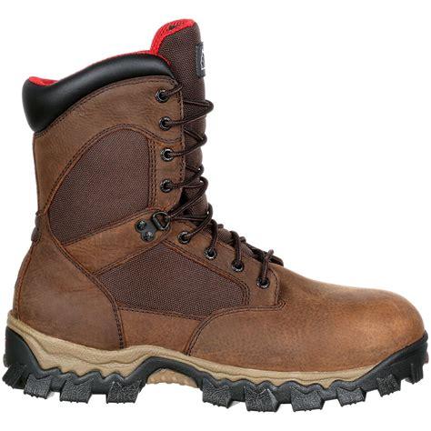 comfortable work boots steel toe rocky alphaforce composite toe waterproof comfort work boot