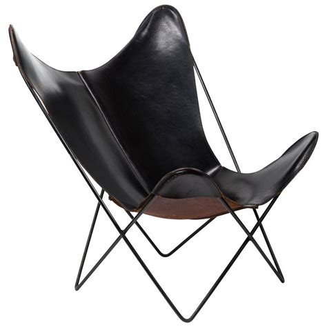 leather butterfly chair leather butterfly chair by jorge hardoy for knoll for sale at 1stdibs