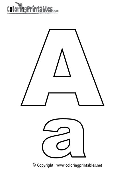 alphabet letter a coloring page a free english coloring