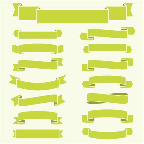 banner design vector file green ribbon banners vectors 02 vector banner free download