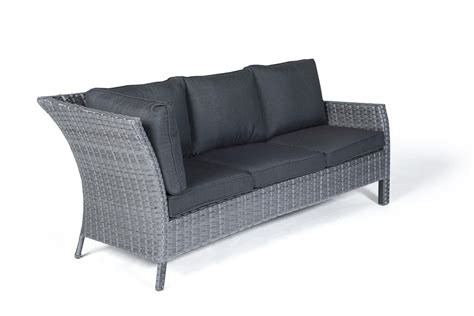 gartenmöbel lounge sofa rattan paddington rattan garden furniture dining lounge in mixed grey