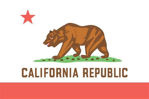 california state color 50 state flags of the usa