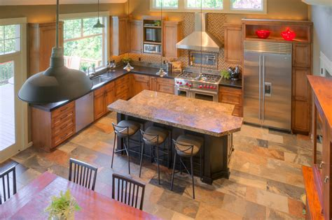 Industrial farmhouse kitchen remodel Traditional Kitchen portland by Renaissance Homes