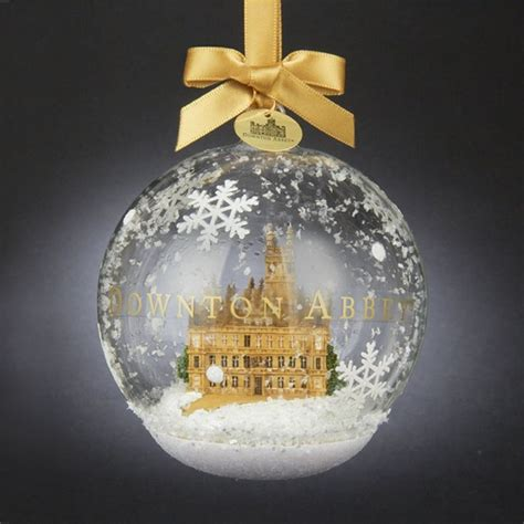 downton ornaments 4 5 quot downton white and gold castle in