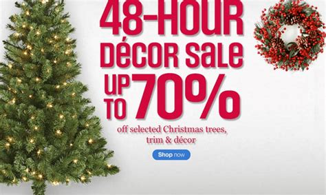 sears canada 48 hour decor sale save up to 70 on