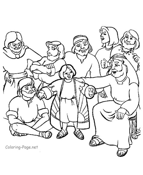 coloring pages for joseph and his brothers joseph and his brothers coloring page coloring home