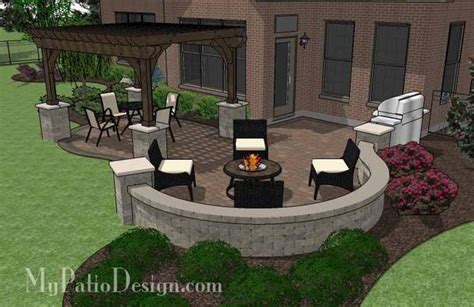 my patio design curvy backyard patio design with pergola patio plan