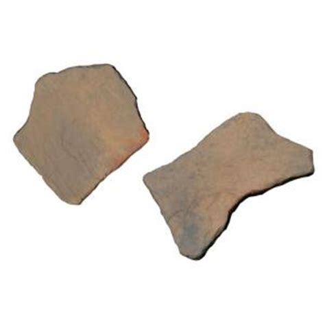decorative stepping stones home depot nantucket pavers 20 in and 21 in irregular concrete tan