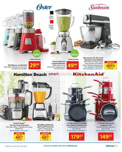 walmart small kitchen appliances walmart small appliances flyer april 28 to may 11