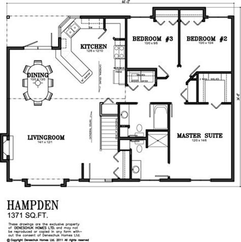 Deneschuk Homes 1300 1400 Sq Ft Home Plans Rtm And Open House Plans 1300 Sq Ft