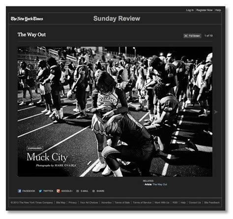ny times sunday review section mark ovaska muck city supported by nppa short grant nppa