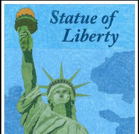 statue of liberty craft for statue of liberty mural projectsart projects for kid