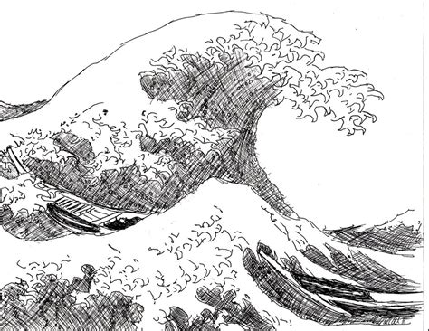 drawing boat and waves japanese wave and boats by kleidausrosen on deviantart