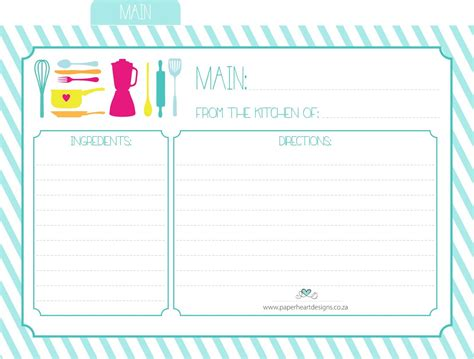 Free Printable Papers For Card - paper designs friday freebee printable recipe cards