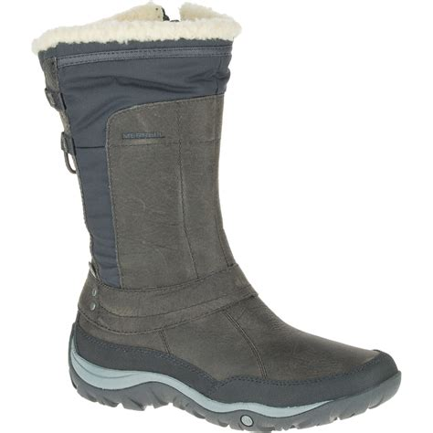 womens waterproof boots merrell s murren mid waterproof boots pewter