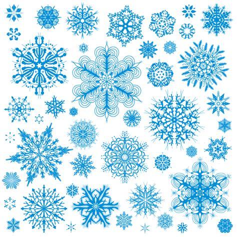pattern snowflakes various christmas snowflake pattern vector free vector