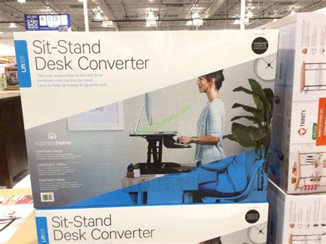 costco sit stand desk costco 1158048 ergotron lift101 sit stand desk converter