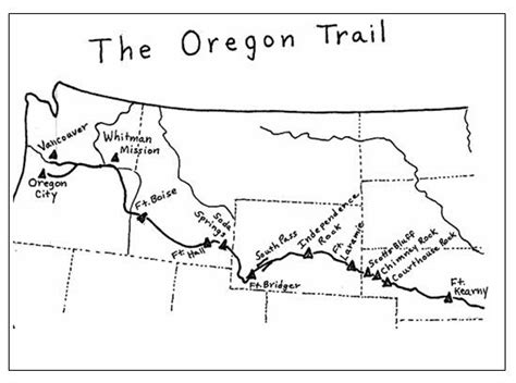 oregon connecticut and united states map on pinterest oregon trail map printable oregon trail learn
