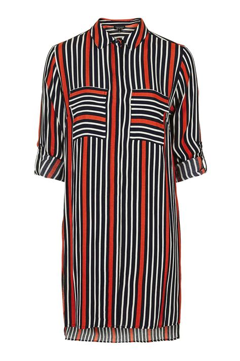 Striped Oversized Shirt oversized stripe shirt dress topshop europe