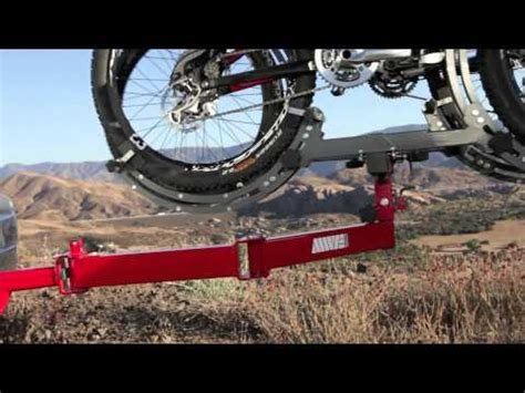 swing out bike rack mwe swing away base rear receiver hitch tray bike rack