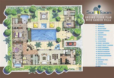 home garden design plan com floor plans sai taan phuket property