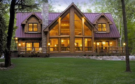 12 beautiful modern log home plans house plan galeries fuste maison en rondin empile