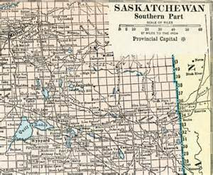 1929 vintage map of saskatchewan saskatchewan by bananastrudel