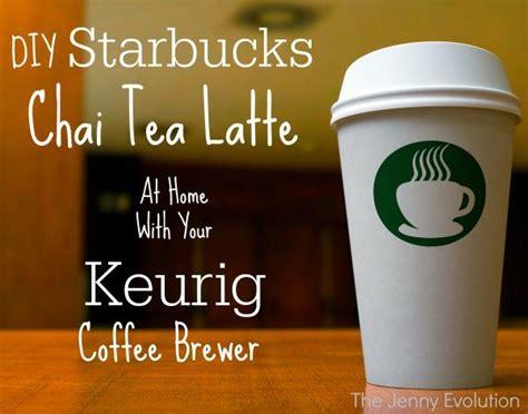 diy starbucks tazo chai tea latte   keurig recipe tea latte tazo chai tea  mom