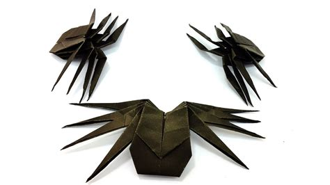 origami tarantula tutorial easy instruction paper spider how to make origami