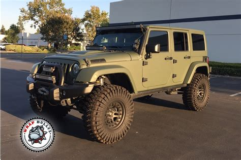 matte brown jeep matte army green jeep wrap wrap bullys