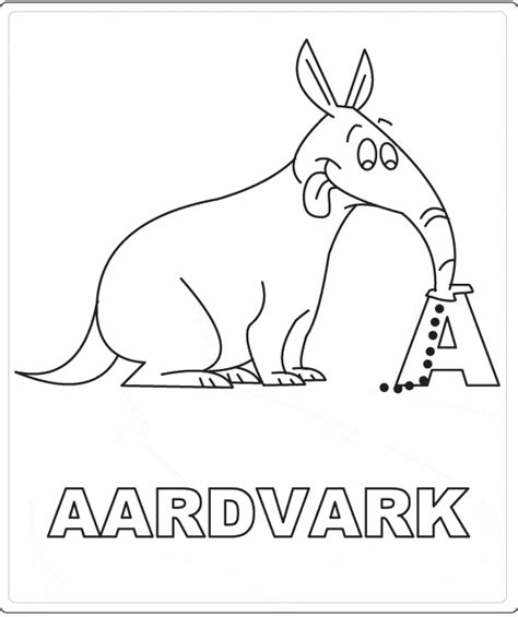 aardvark coloring page animals town animals color