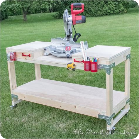 werkstatt diy diy mobile miter saw stand tools and tips