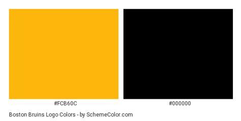 boston bruins logo color scheme black schemecolorcom