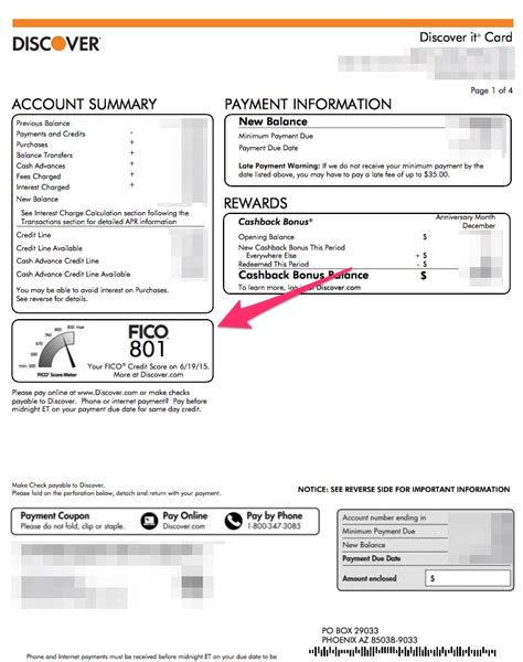 Sle Credit Card Statement Free Fico Score From Discover Credit Cards My Money