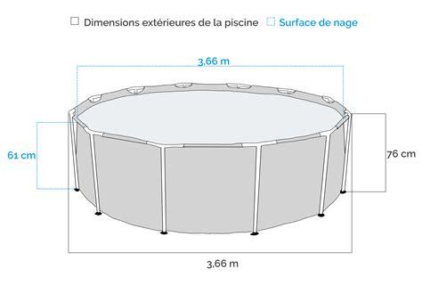 Bache Piscine 3 66 840 by Piscine Tubulaire Intex Metal Frame 3 66 X 0 76m Avec